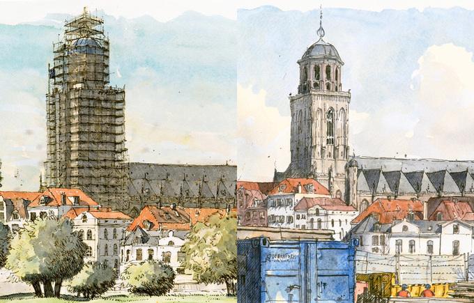Deventer tekeningen door Peter Paul Hattinga Verschure